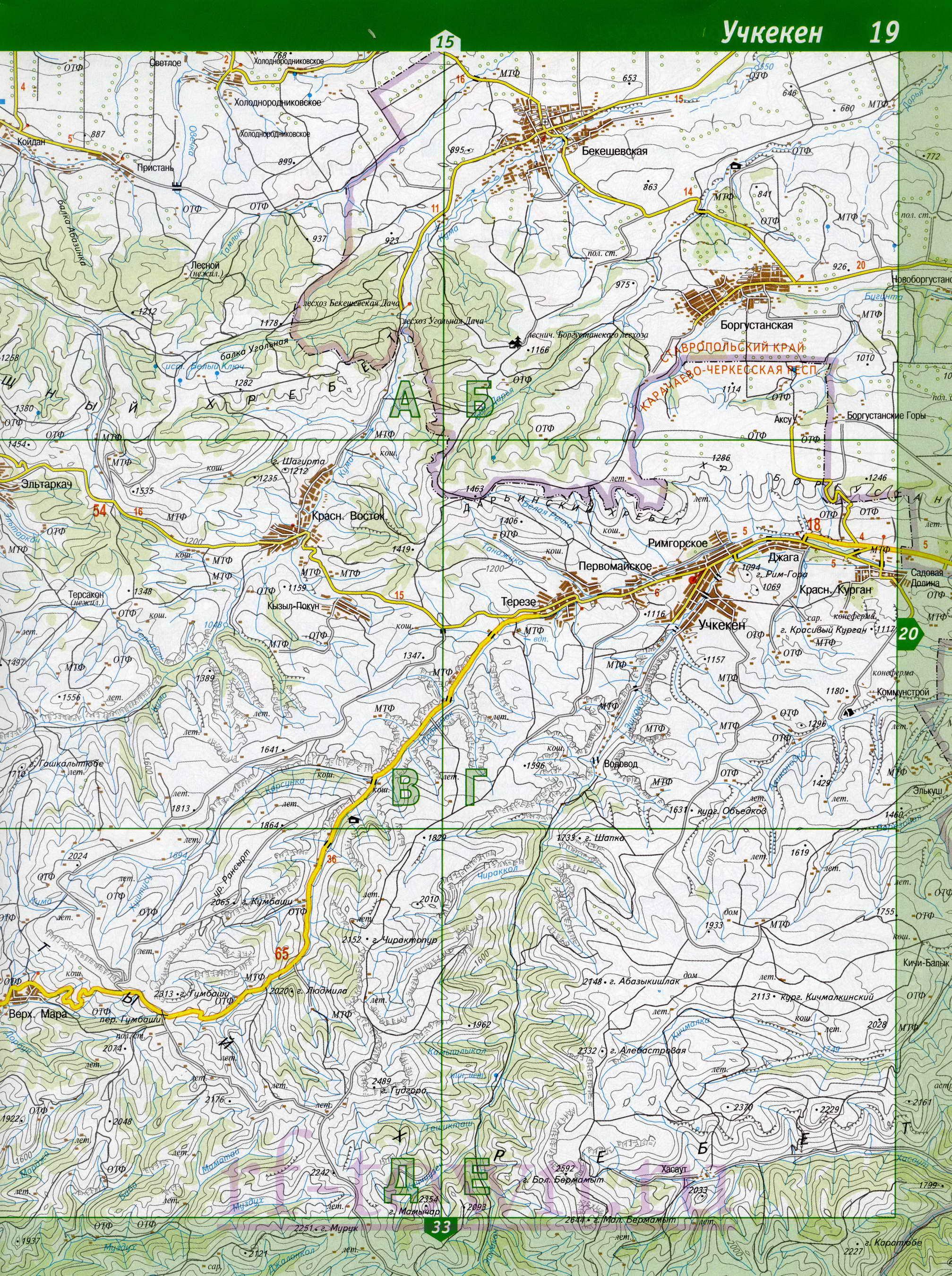 Скачать бесплатно подробные топографические карты республик и областей