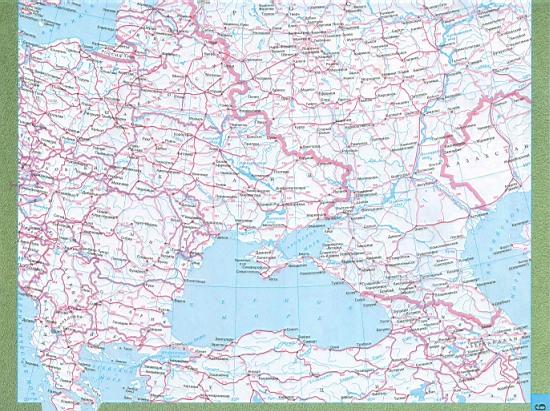 Подробная карта дорог России и