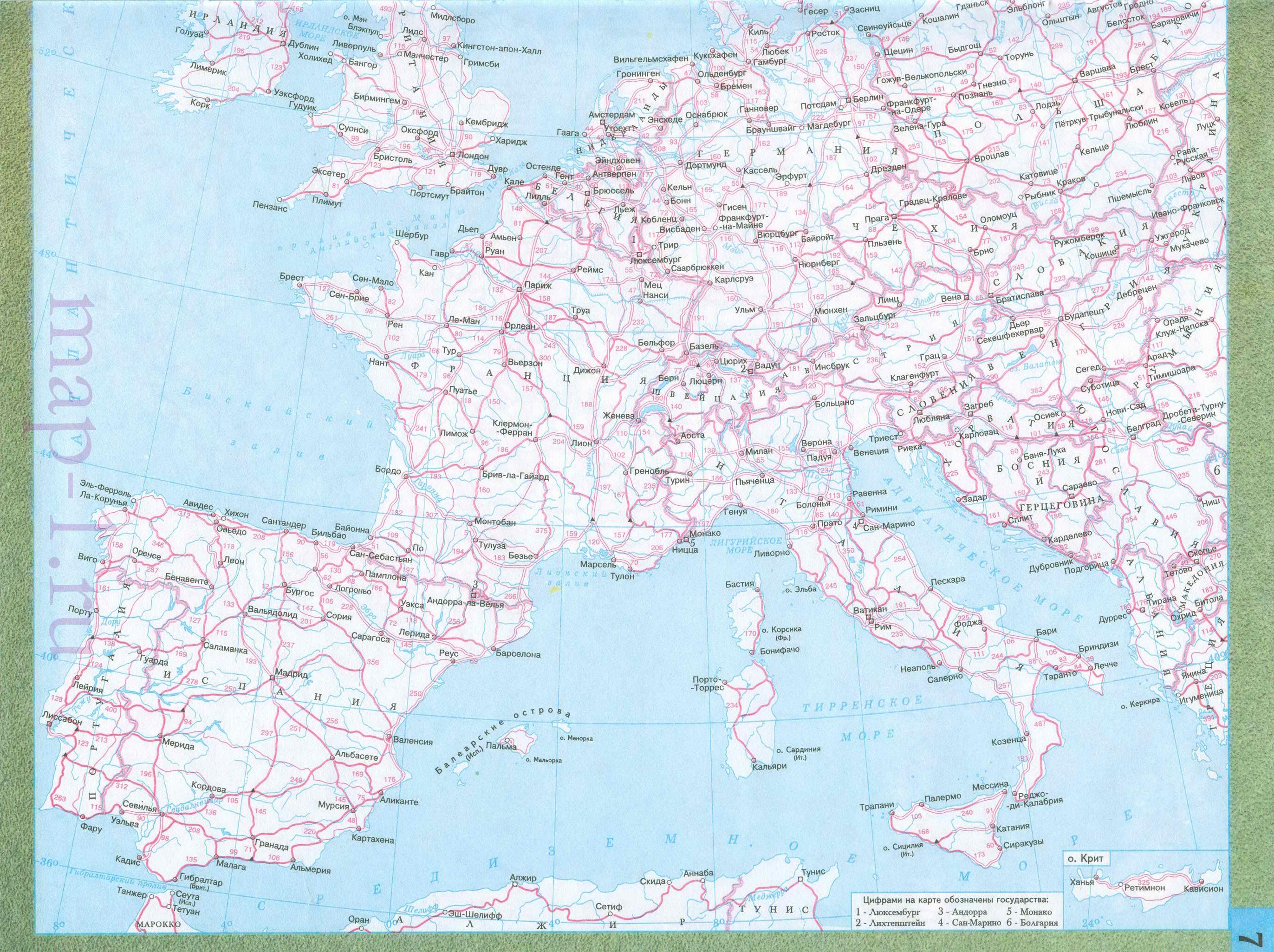 Западной европы дорожная карта европы