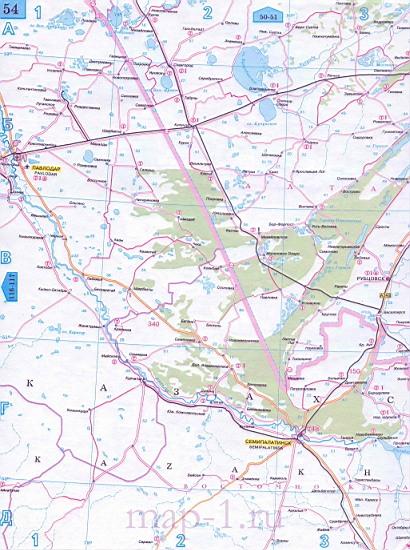 Алтайский край - карта дорог