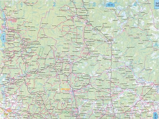 Карта Челябинской области Подробная схема и со