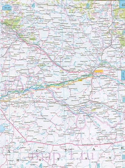 Карта Татарстана автомобильная