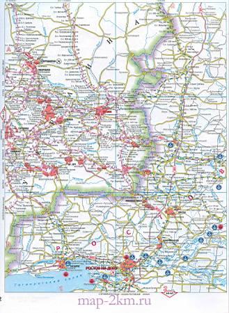Подробная карта схема