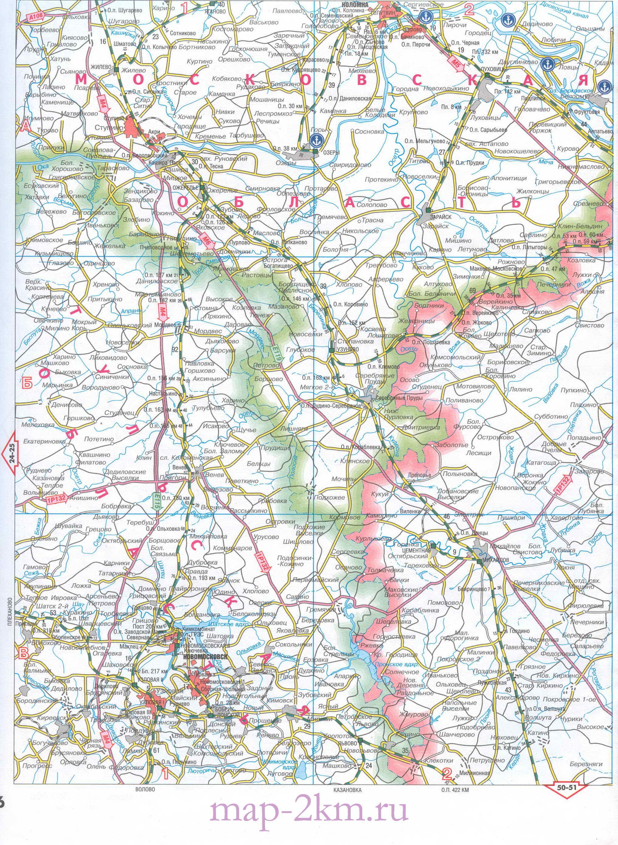 Карта Московской и соседних областей. Подробная карта ...: http://map-1.ru/map1182157_2_2.htm