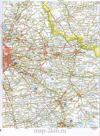 Карта Московской и соседних областей. Подробная карта ...: http://map-1.ru/1182157.html