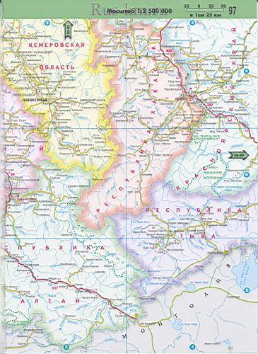 Карта Алтайского края и